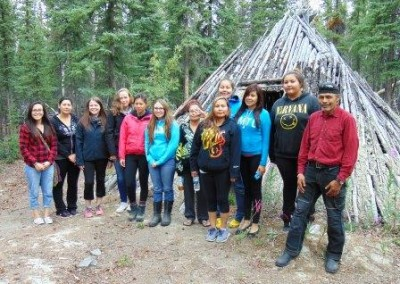 First Nation students visit the camp
